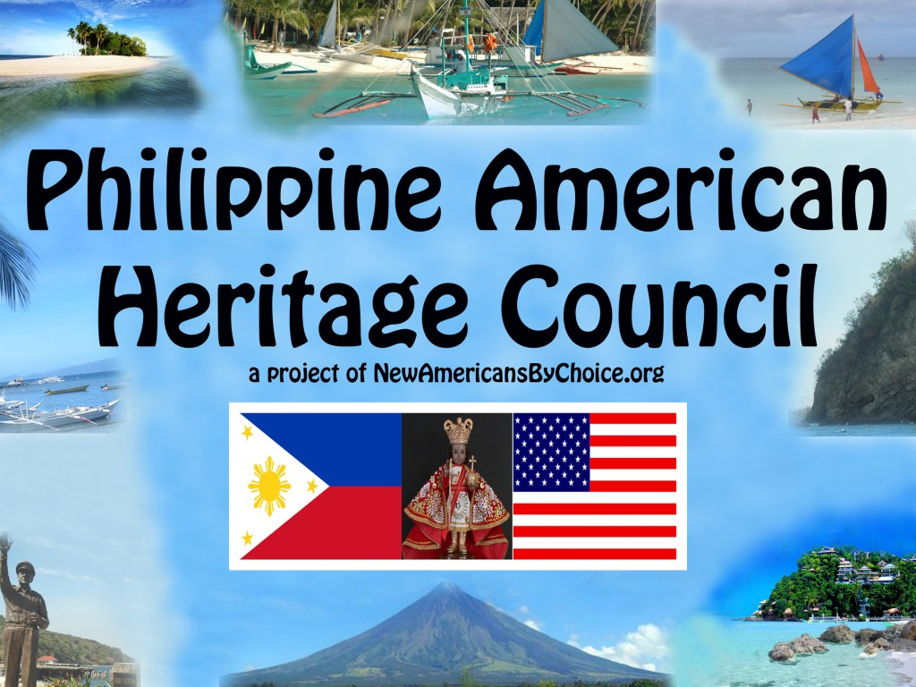 The new Banner of the Philippine American Heritage Council, featuring photos of island and beach scenes and Mayon Volcano in the Philippines, will be unveiled for the first time at Sunday's picnic.