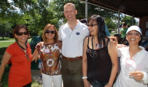 Gloria Lease (L), Congressman Scott Perry, Liberten Parks at last year's picnic.