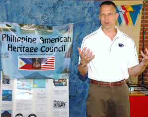 U.S. Congressman Scott Perry to deliver keynote remarks in his second appearance at the annual Heritage Fiesta, shown here speaking at his first appearance, August 2013.